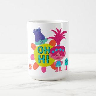 Taza De Café Amapola y rama de los duendes el | - oh hola allí