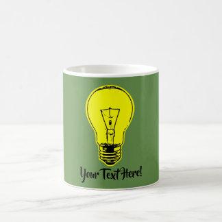 Taza De Café Amarillo de la lámpara