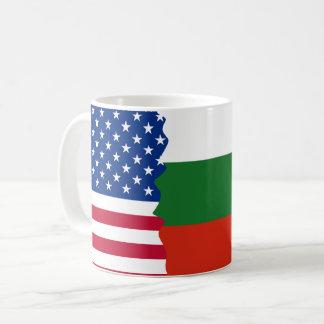 Taza De Café American/USA y bandera búlgara