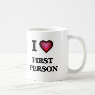 Taza De Café Amo a la primera persona