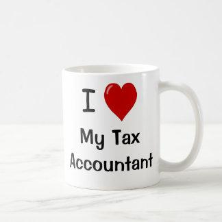 Taza De Café Amo a mi contable del impuesto me amo