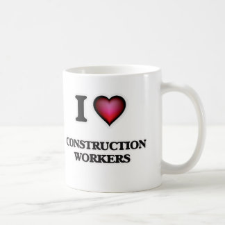 Taza De Café Amo a trabajadores de construcción
