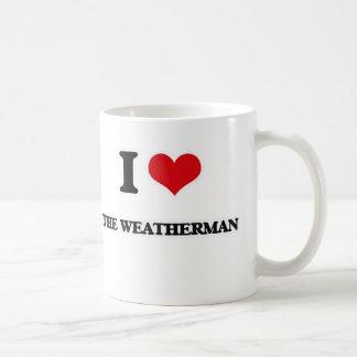 Taza De Café Amo al hombre del tiempo