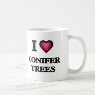 Taza De Café Amo árboles de la conífera