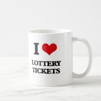 Taza De Café Amo boletos de lotería
