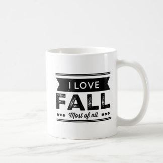 Taza De Café Amo caída sobre todo