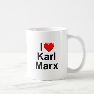 Taza De Café Amo (corazón) a Karl Marx