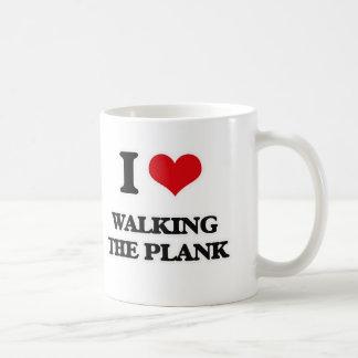 Taza De Café Amo el caminar el tablón