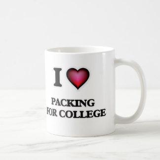 Taza De Café Amo el embalar para la universidad