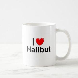 Taza De Café Amo el halibut del corazón