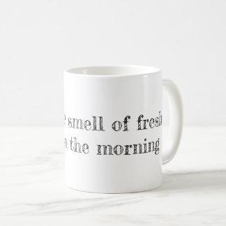 Taza De Café Amo el olor del café fresco por la mañana