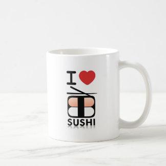 Taza De Café Amo el sushi