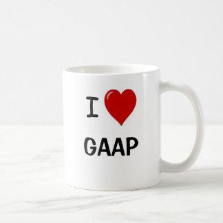 Taza De Café Amo GAAP - corazón GAAP de I - GAAP divertido