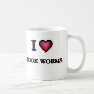Taza De Café Amo gusanos de libro