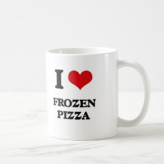 Taza De Café Amo la pizza congelada