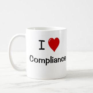 Taza De Café Amo la regulación del amor de la conformidad I