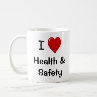 Taza De Café Amo la salud y la seguridad - de doble cara