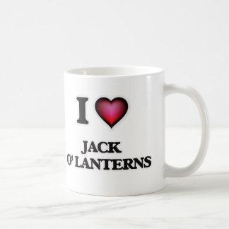 Taza De Café Amo las linternas de Jack O