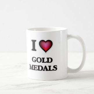Taza De Café Amo las medallas de oro