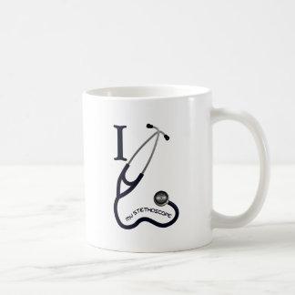 Taza De Café Amo mi estetoscopio - azul