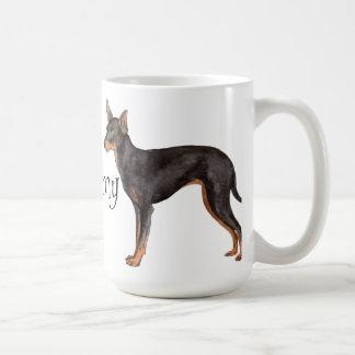 Taza De Café Amo mi juguete Manchester Terrier