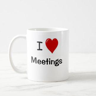 Taza De Café Amo reuniones - encuéntrese para discutir cita