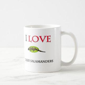 Taza De Café Amo Salamanders de tigre