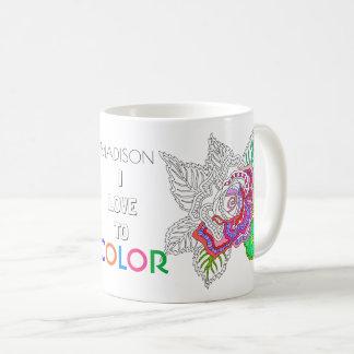 Taza De Café Amor de la diversión I del colorante del adulto de