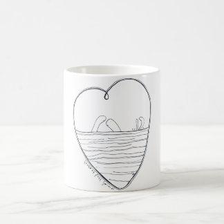 Taza De Café Amor en la primera nadada