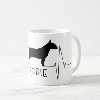 Taza De Café Amor personalizado de bull terrier mi golpe de