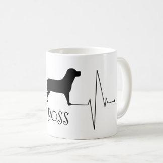 Taza De Café Amor personalizado de Labrador mi golpe de corazón