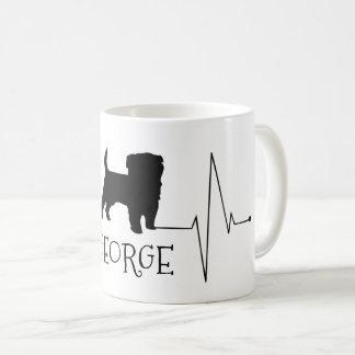 Taza De Café Amor personalizado de Terrier mi golpe de corazón