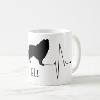 Taza De Café Amor personalizado del collie mi golpe de corazón