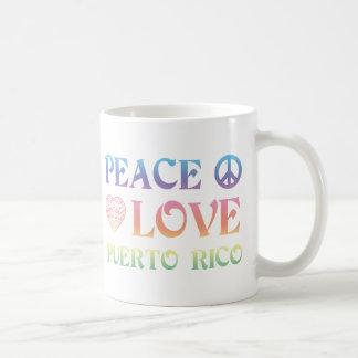 Taza De Café Amor Puerto Rico de la paz