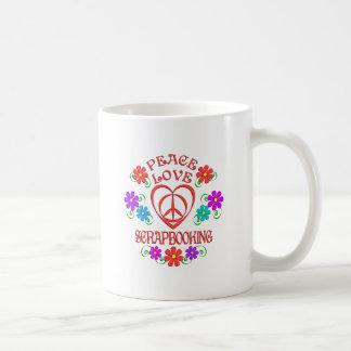 Taza De Café Amor Scrapbooking de la paz