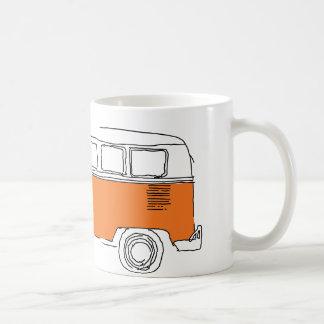 Taza de café ANARANJADA de VAN/del autobús