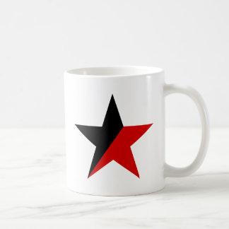 Taza De Café Anarquismo negro y rojo del Anarcho-Sindicalismo
