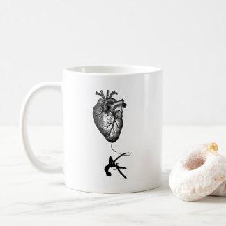 Taza De Café Anatomía del corazón - acróbata aéreo