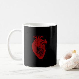 Taza De Café Anatomía del corazón del vintage