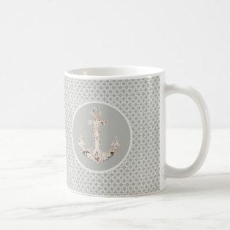 Taza De Café Ancla costera de muy buen gusto del modelo