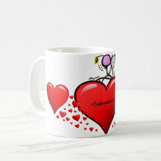 Taza De Café Ángel de las tarjetas del día de San Valentín en