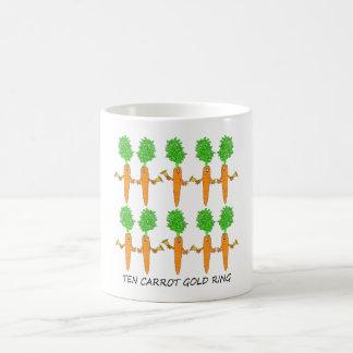 Taza De Café Anillo de oro de diez zanahorias
