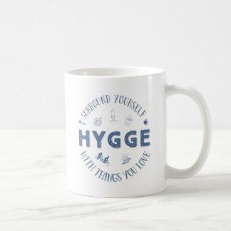 Taza De Café Anillo usted mismo W. Hygge (texto azul marino)