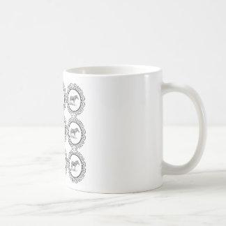 Taza De Café anillos de la cebra