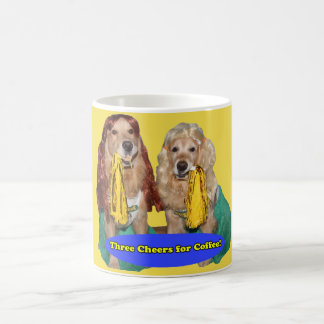 Taza De Café Animadoras del golden retriever