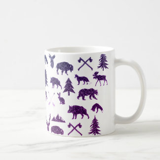 Taza de café animal geométrica de los animales el