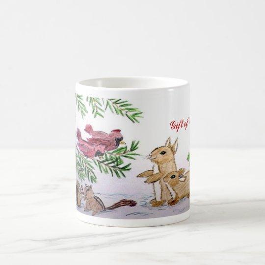 Taza De Café animales en navidad de la nieve