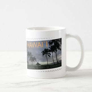 Taza De Café Aniversario del Statehood 50.o de Hawaii