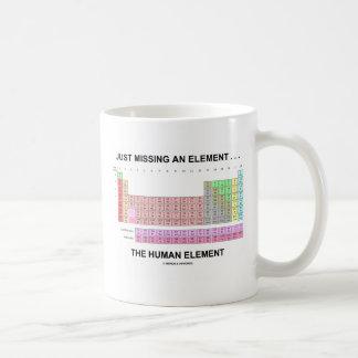 Taza De Café Apenas faltando un elemento… el elemento humano