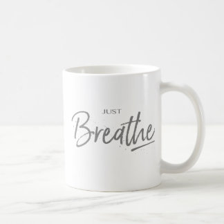 Taza De Café Apenas respire, yoga, cita del zen